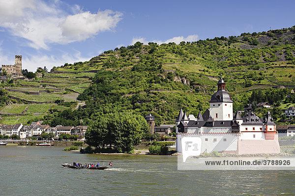 Burg Pfalzgrafenstein im Rhein  Kaub  Deutschland Burg Pfalzgrafenstein im Rhein, Kaub, Deutschland