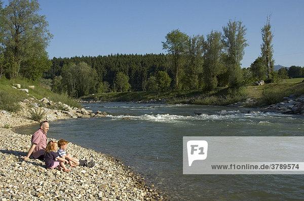 At the river Loisach near Penzberg Bavaria Germany