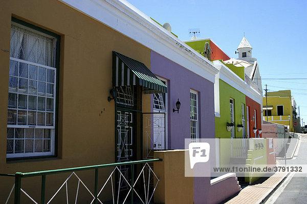 Südafrika Kapstadt Capetown farbige Häuser Wohnungen und Siedlungen