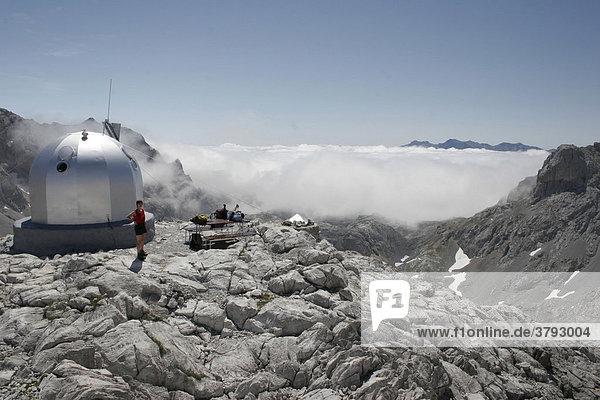 Bergstation Cabana Veronica in den Bergen Picos de Europa Spanien