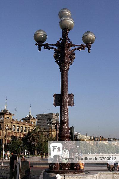 Laterne in San Sebastian Spanien