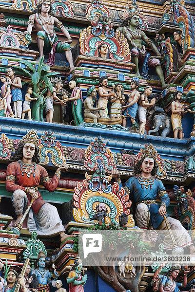India  Tamil Nadu  Chennai ex Madras  Mylapore districtit  the Gopuram Tower of the Temple devoted to Shiva