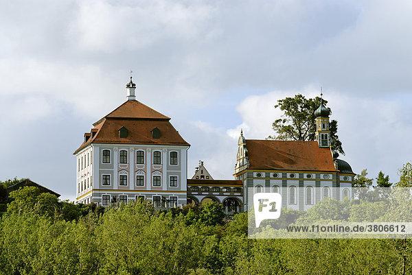 Schloss Leitheim bei Donauwörth Bayerisch Schwaben Deutschland ehemalige Sommerresidenz des Abtes von Kaisheim