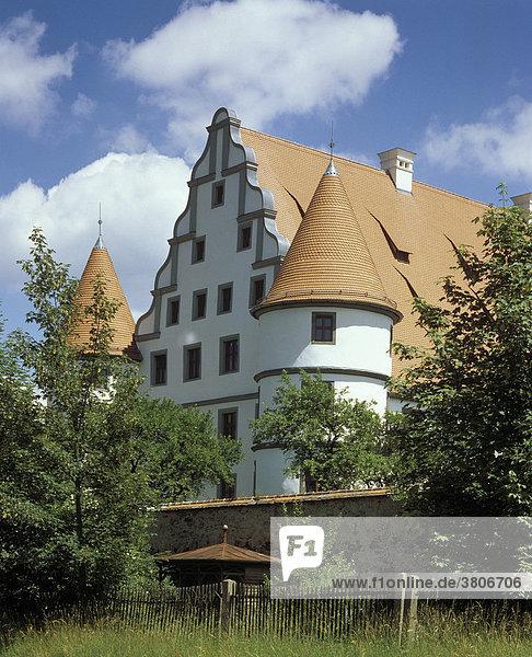 Vohenstrauss south of Weiden Upper Palatinate Bavaria Germany Friedrichsburg castle of Friedrich built 1585 to 1593 after plans of Leonhard Greineisen