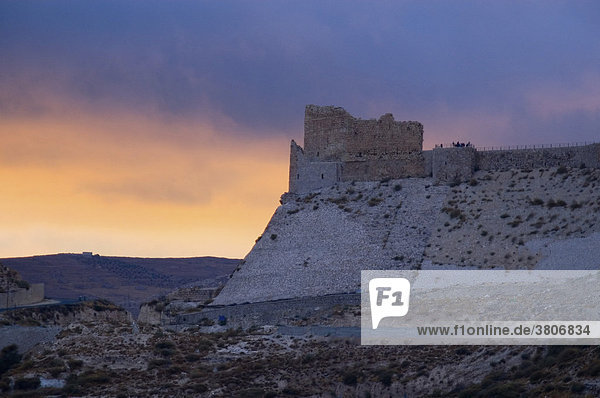 Jordan Fortress Karak at the King's Highway from Amman to Aqaba