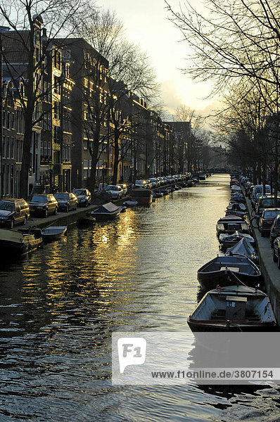 Amsterdam North Holland Netherlands at the Prinsengracht Canal