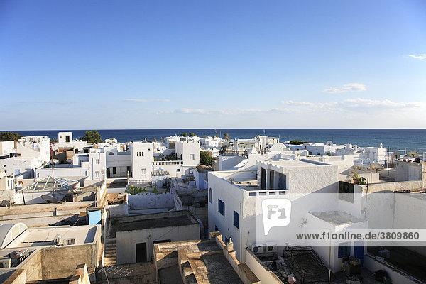 Look over Medina of Hammamet  Tunisia