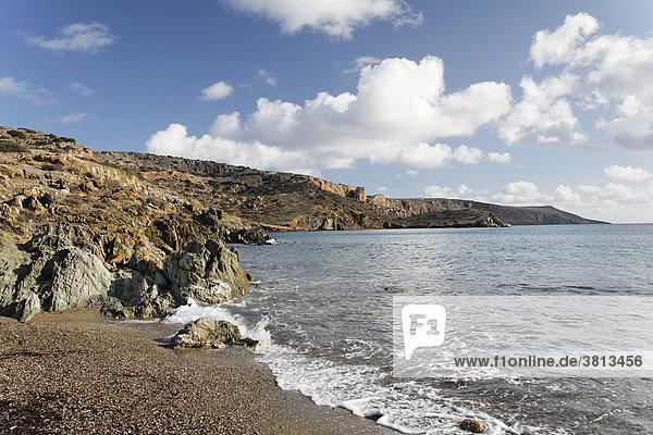 Küste in Erimoupoli (Itanos)  Ostkreta  Kreta  Griechenland
