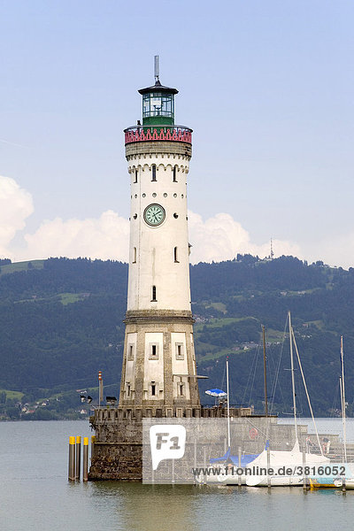 Lighthouse of Lindau at the Lake Constance  Germany