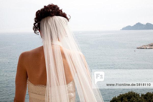 Braut Blick vom Balkon