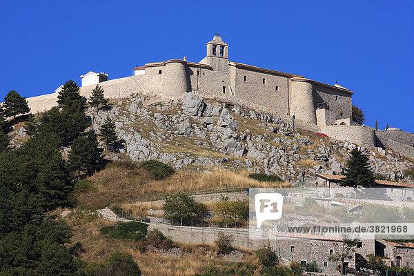 Italy  Campania  Matese regional park. The medieval village of Letino