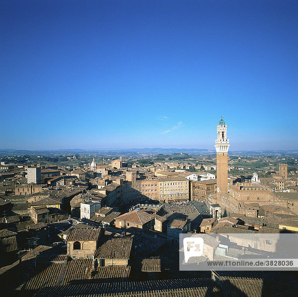 View on Siena from the cathedral  Siena  Tuscany  Italy