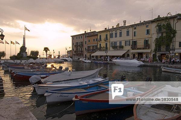 Lazise at the Lake Garda Lago di Garda Veneto Italy