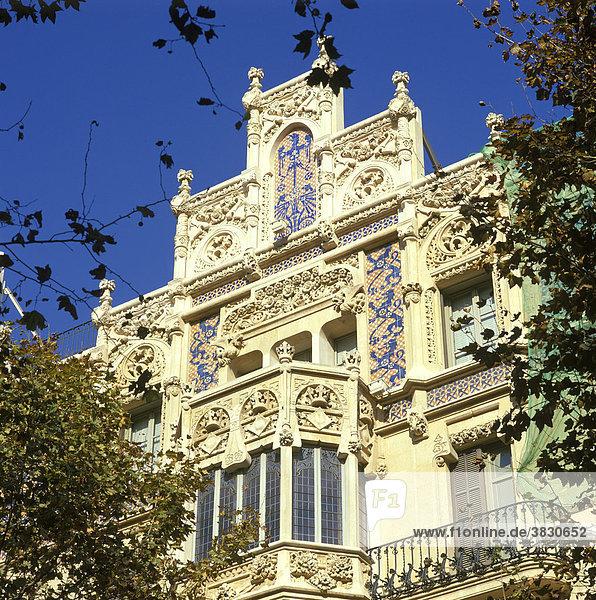 Palma Majorca Spain Place de Weyler former Grand Hotel plan of DomÈnech i Motaner 1902 art Noveau