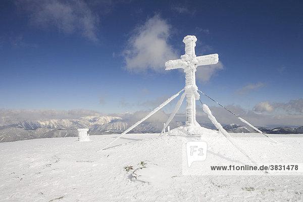 Gipfelkreuz am Stuhleck Steiermark Österreich
