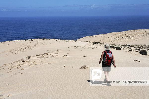 Wanderin in El Jable   Jandia   Fuerteventura   Kanarische Inseln
