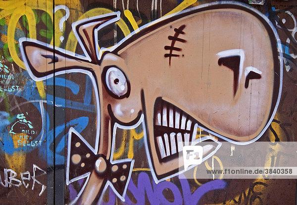 Graffiti an einer Hauswand