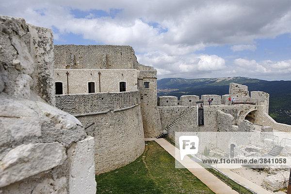 Castello  norman castle  Monte Sant'Angelo  Gargano  Province Foggia  Apulia or Puglia  South Italy  Europe