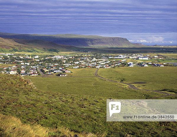 Gewächshäuser für Obst und Blumen  geothermisch geheizt  Hveragerdi  Süd-Island  Europa