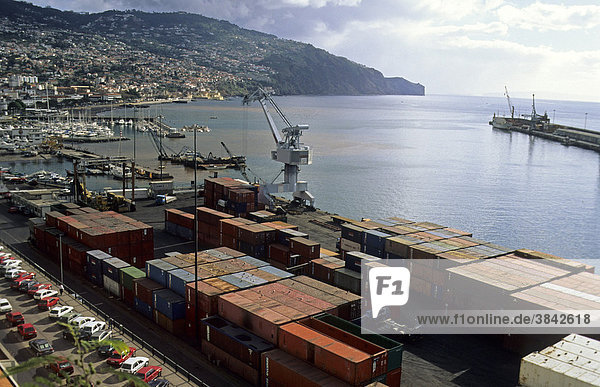 Container port  banana exports  Funchal  Madeira  Europe