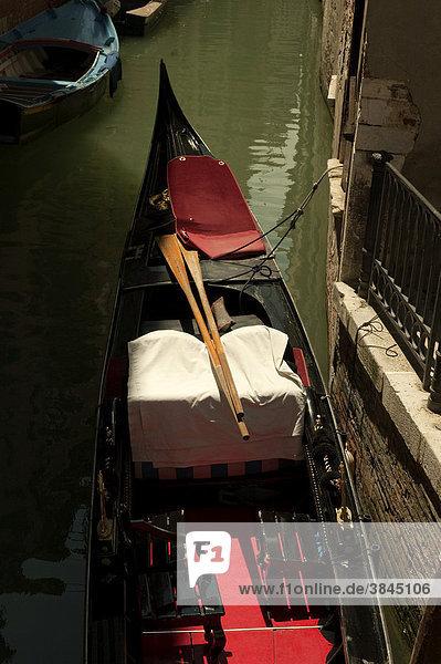 Gondel in Venedig  Venetien  Italien  Europa