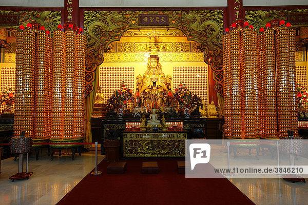 Fürbitten Schreine an die Himmlische Mutter  chinesischer Thean Hou Tempel  Kuala Lumpur  Malaysia  Asien