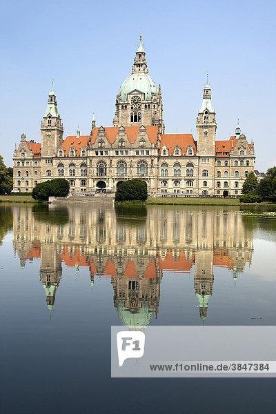 Neues Rathaus  Hannover  Niedersachsen  Deutschland  Europa