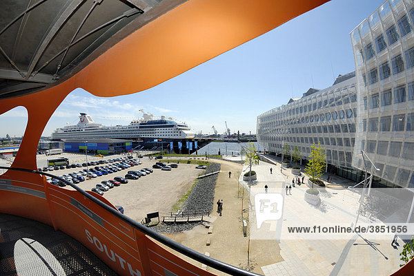 Cruise liner Mein Schiff  my ship  cruise terminal in Hafencity  Hamburg  Germany  Europe