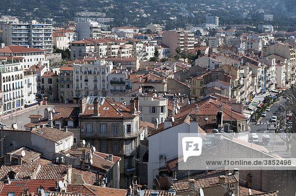 View from La Castre on Cannes  Mont Chevalier  Cannes  CÙte d'Azur  France  Europe