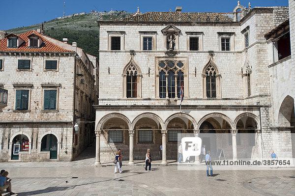 Sponza Palast  Palazzo Sponza  Dubrovnik  Gespanschaft Dubrovnik  Kroatien  Europa