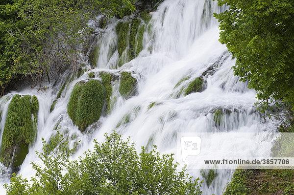 Nationalpark Krka Wasserfälle  Gespanschaft Sibenik-Knin  Kroatien  Europa