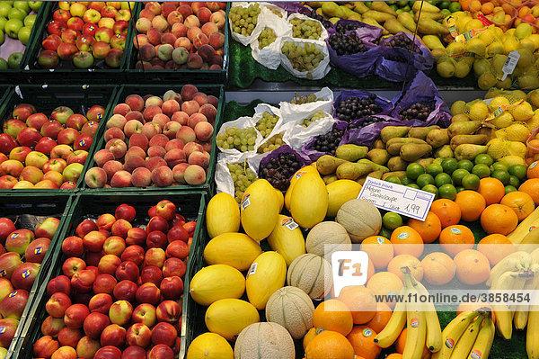 Obst  Auslage  Lebensmittelmarkt  Einzelhandel