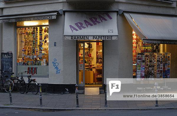 Ararat  Papeterie in der Bergmannstraße  Kreuzberg  Berlin  Deutschland  Europa