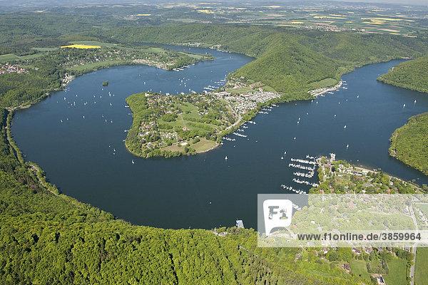 Halbinsel Scheid  Edersee  Rehbach  Nationalpark Kellerwald  Nordhessen  Deutschland  Europa