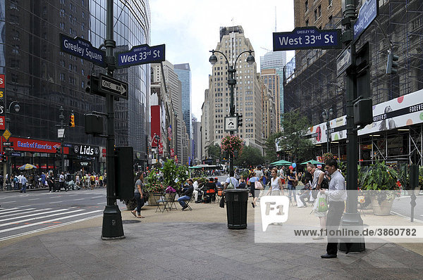 Greeley Square  Broadway und 6th Avenue  Murray Hill  New York City  New York  Nordamerika  USA  Vereinigte Staaten