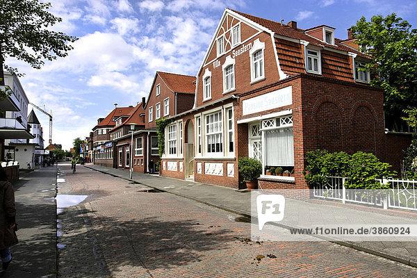 Typische Architektur auf der Insel Juist  Niedersachsen  Deutschland  Europa