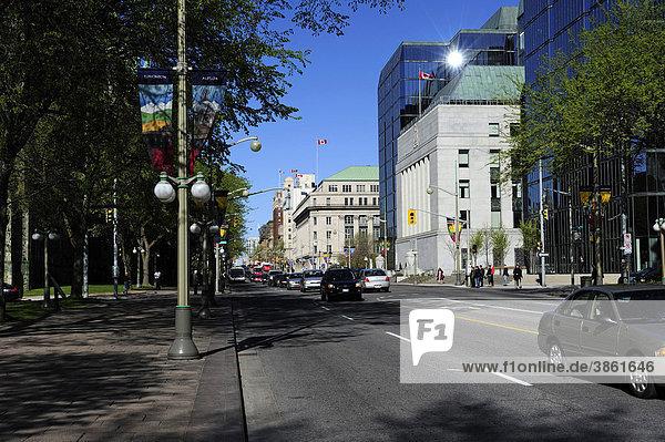 Wellington Street in Ottawa  Ontario  Kanada