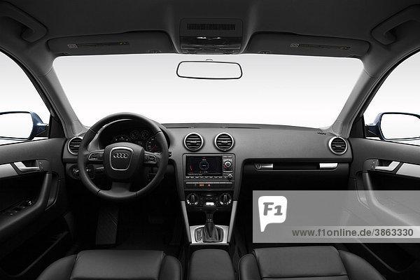 2011 Audi A3 TDI im Gray - Dashboard  Mittelkonsole  Getriebe-Shifter-Ansicht