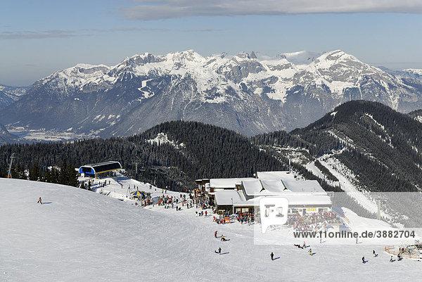 Skigebiet Spieljoch bei Fügen  Zillertal  Tirol  Österreich  Europa