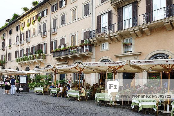 Piazza Navona  Restaurants  Rome  Italien  Europa