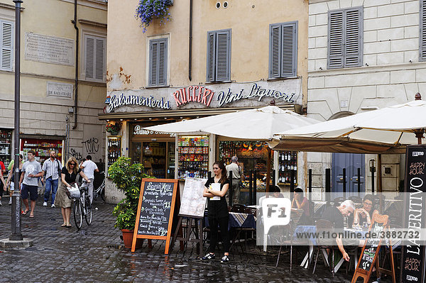 Piazza Campo de Fiori  Rome  Italien  Europa