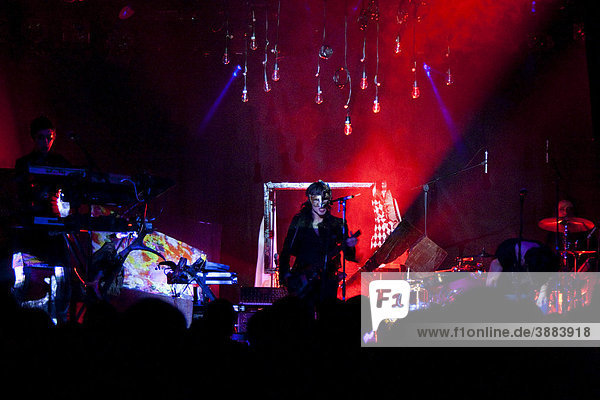 The British glam rock singer and musician Chris Corner live with his music project IAMX at the Schueuer venue  Lucerne  Switzerland