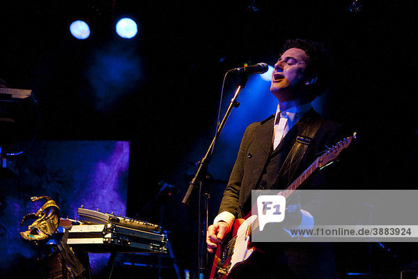 The British singer and musician James Cook live at the Schueuer venue  Lucerne  Switzerland