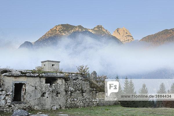 Festung oder Batterie Predilsattel  um 1900 erbaut  Italien  Europa