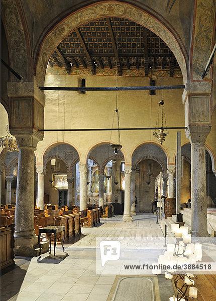 Innenansicht der Kathedrale San Giusto  Triest  Italien  Europa