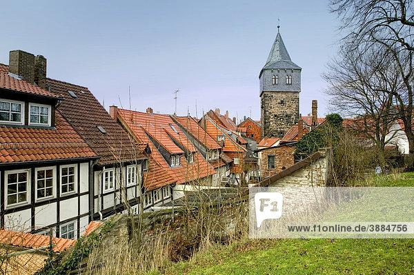Stadtbild von Hildesheim  Niedersachsen  Deutschland  Europa