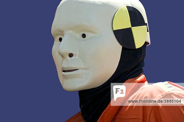 Fetisch-Verkleidung als Crashtest dummy  Christopher Street Day  CSD  Köln  Nordrhein-Westfalen  Deutschland  Europa