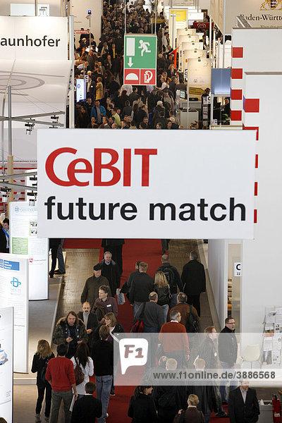 Computer und IT Messe Cebit  Messegelände Hannover  Hannover  Niedersachsen  Deutschland  Europa