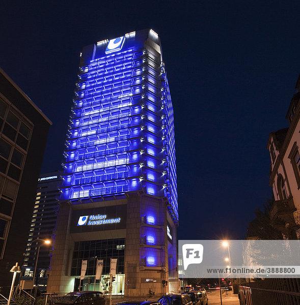 Zentrale der Investmentbank Union Investment in Frankfurt am Main  Hessen  Deutschland  Europa