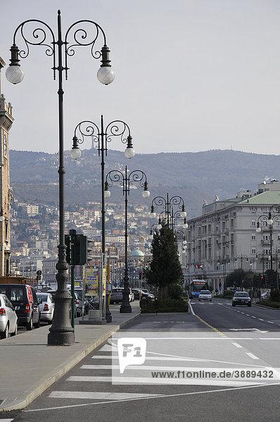 Riva Tommaso Gulli  Triest  Italien  Europa